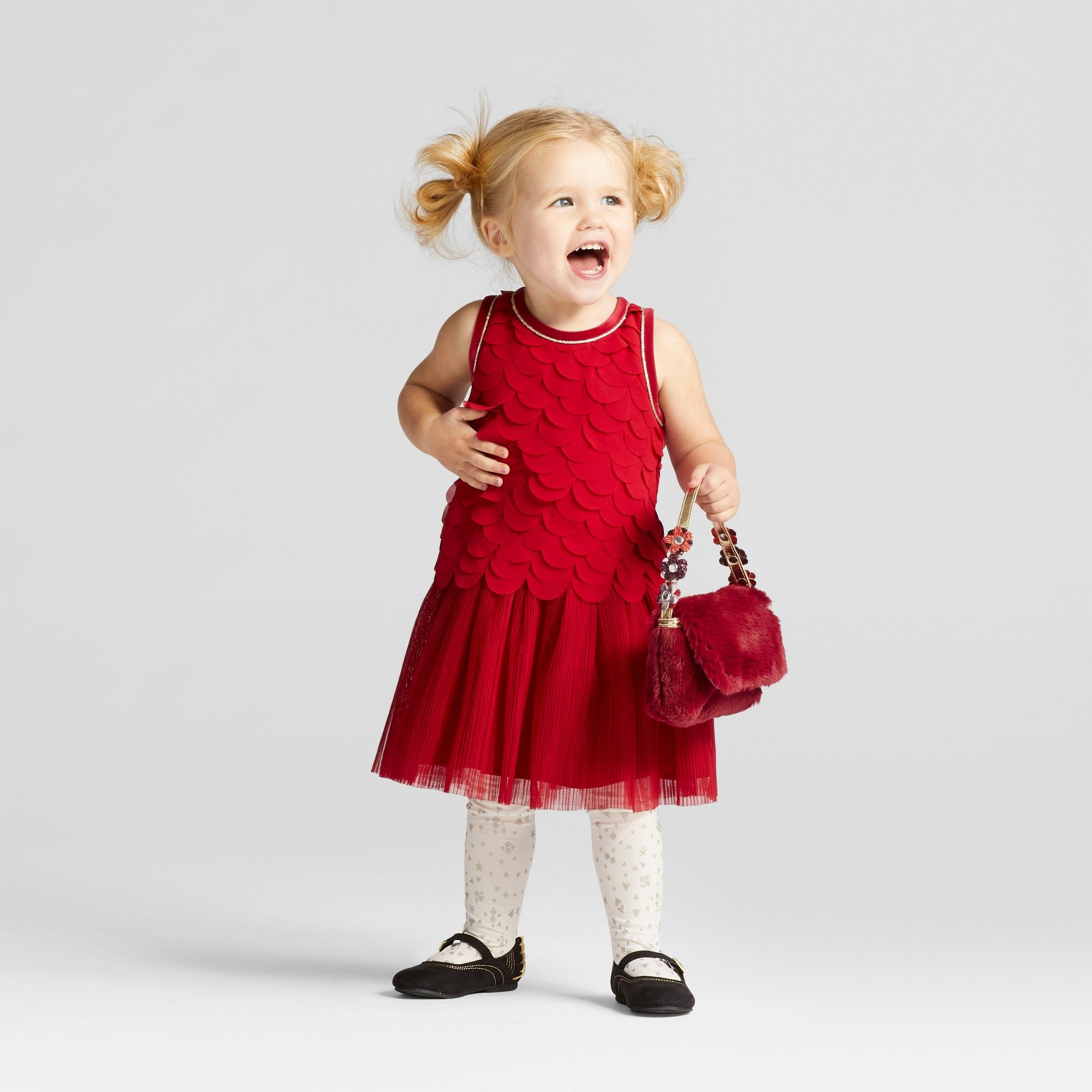 c48699a3942 Toddler Girls  Scallop A Line Dress Cat   Jack Red Velvet 18 M ...