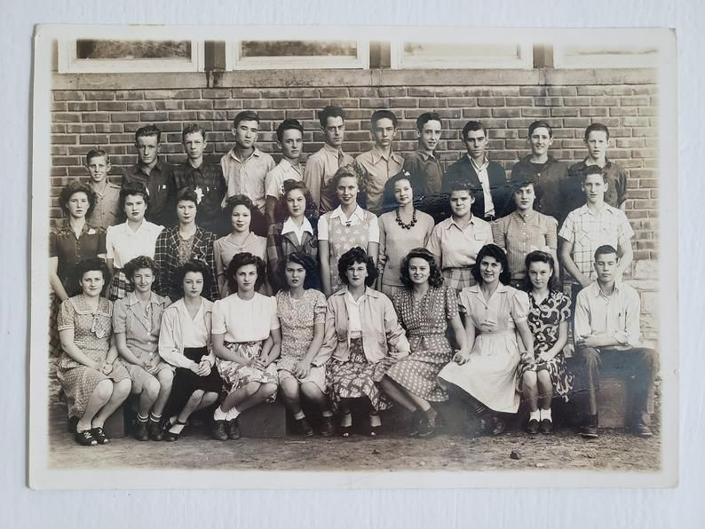 1940s Photo1940s Class Photo 1940s Fashion High School 1940s Vintage Hairstyles Easy care of faux leather Couch Although artificial leather cannot compete with genuine le...