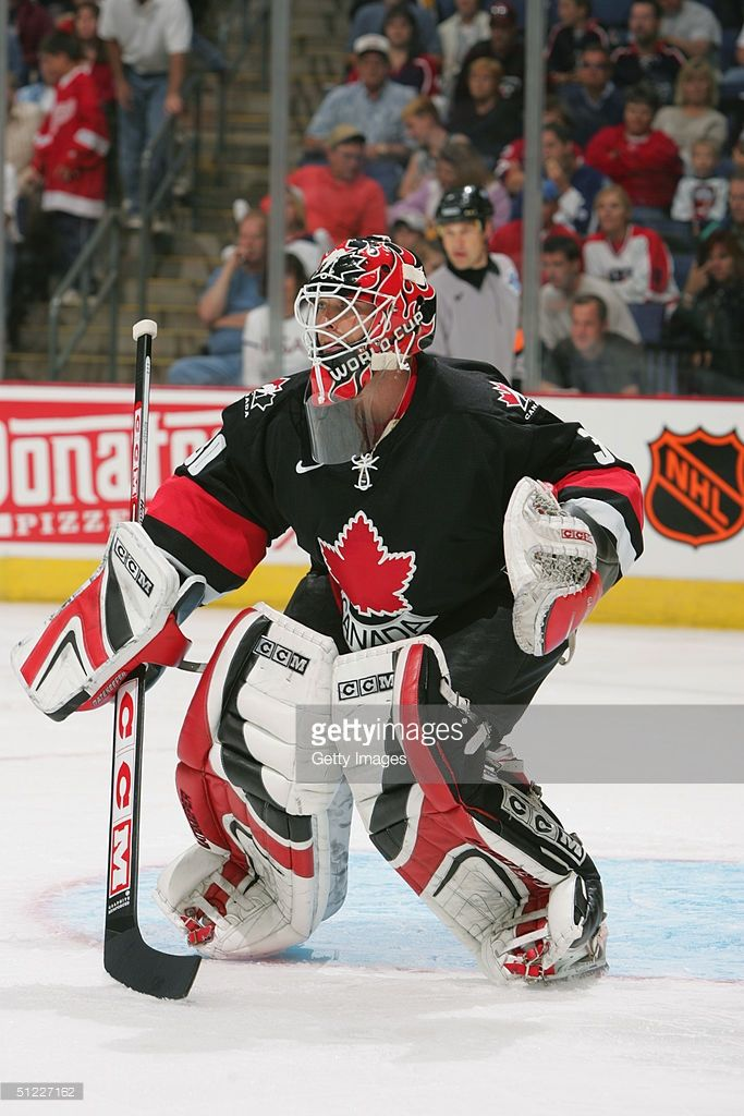 Martin Brodeur Of Team Canada Protects The Crease Against Team Usa Picture Id51227162 683 1024 Team Canada Hockey Team Canada Hockey Goalie