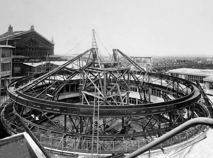Album de la construcción, 1912. Fotografía © Archives Galeries Lafayette.