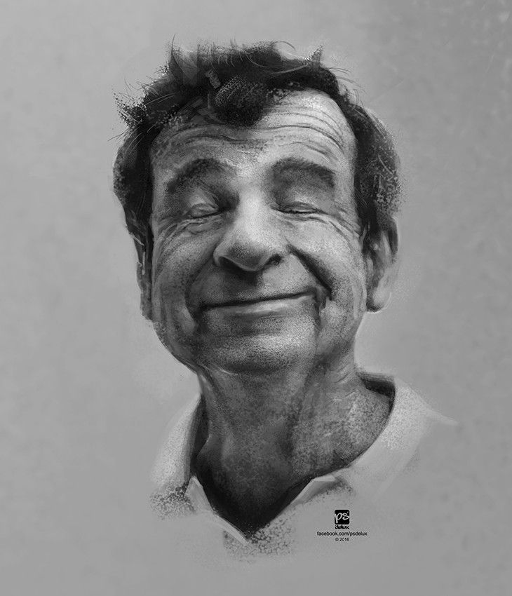 Walter Matthau, psdelux ... on ArtStation at https://www.artstation.com/artwork/AkDXV