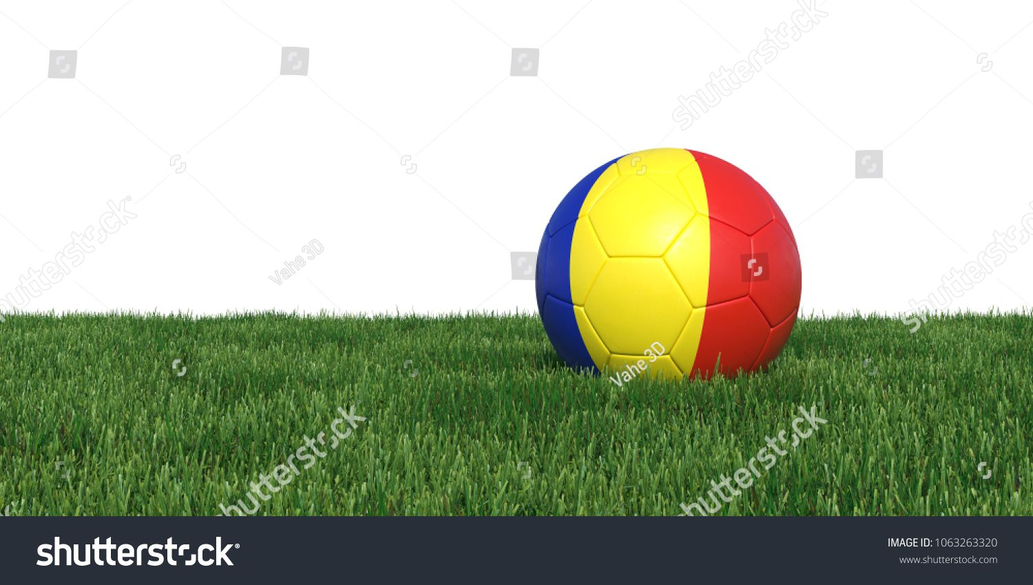 Download Romania Romanian Chad Chadian Flag Soccer Ball Lying In Grass Isolated On White Background 3d Rendering Illustration Photo Editing Stock Photos Fly Fishing