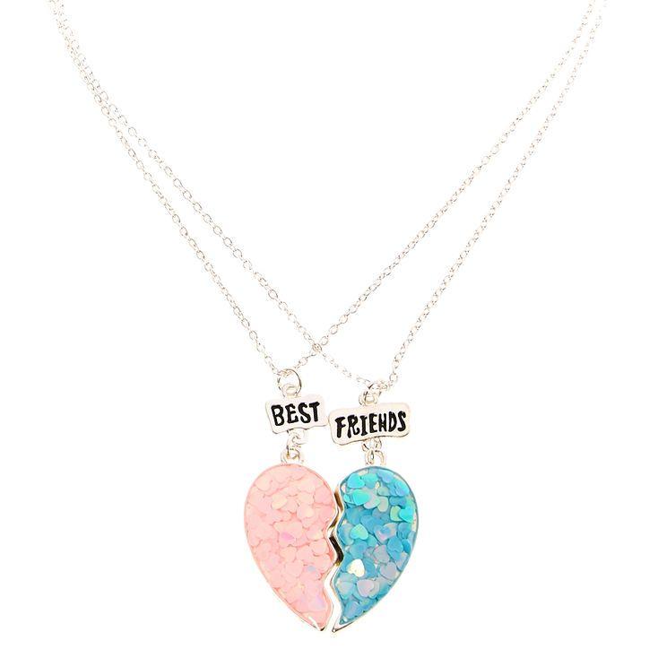 grand choix de prix de liquidation magasin en ligne Best friends confetti split heart pendant necklaces in 2019 ...