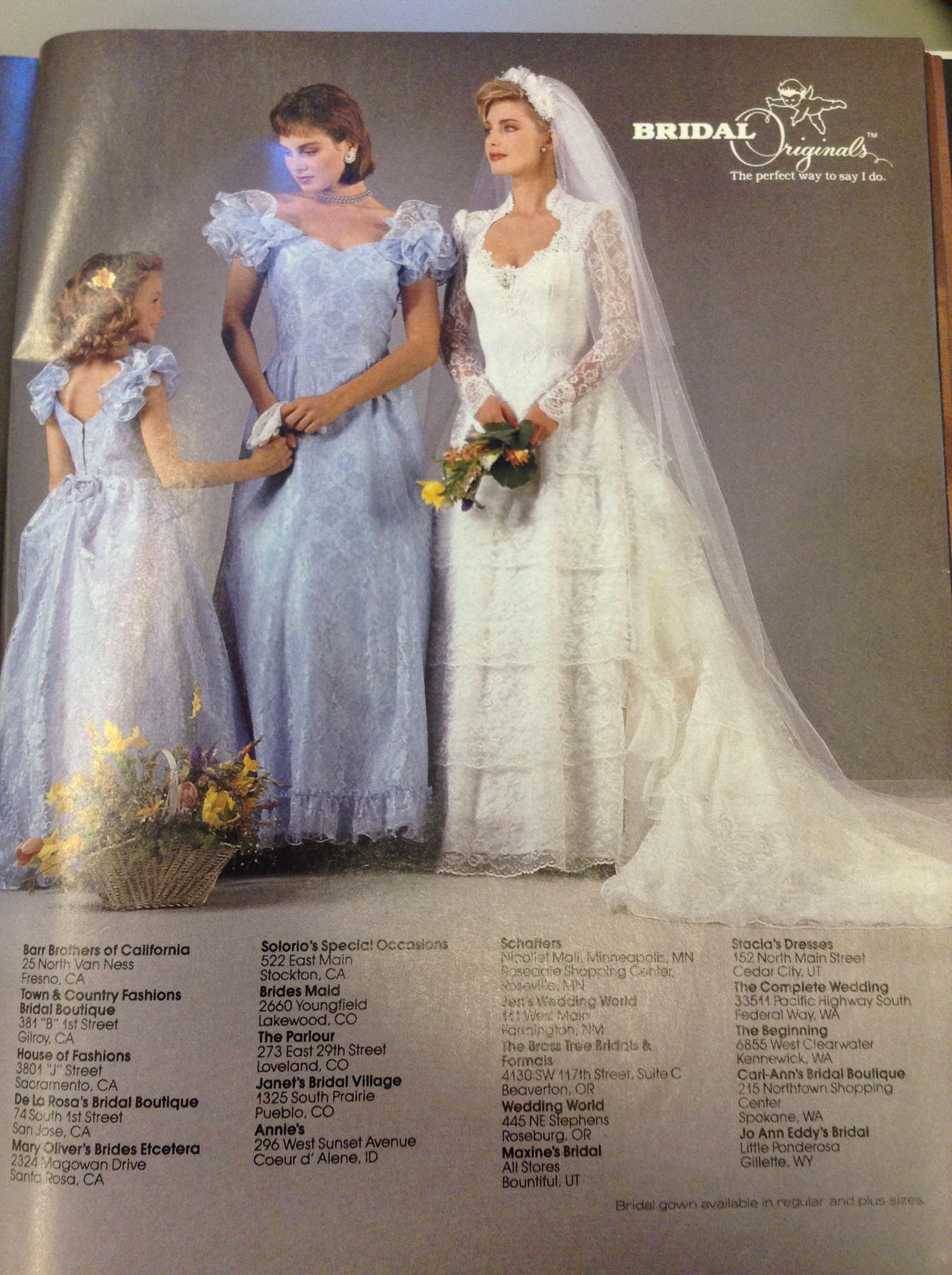 47536baddb34d 1987 bridal originals 1980s Wedding Dress