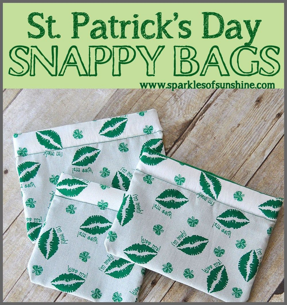 St. Patrick's Day Snappy Bags
