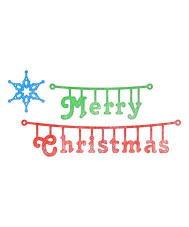 Loving this Cheery Lynn Designs 'Merry Christmas' Hanger Die - Set of Three on #zulily! #zulilyfinds