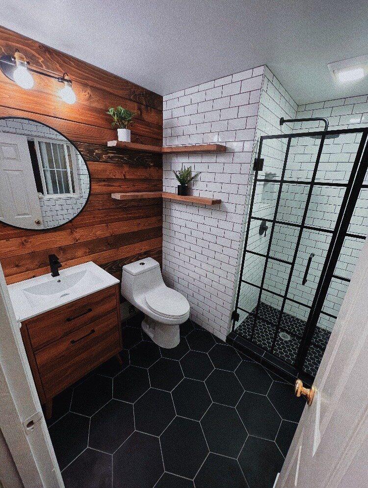 Rustic Industrial Bathroom Design