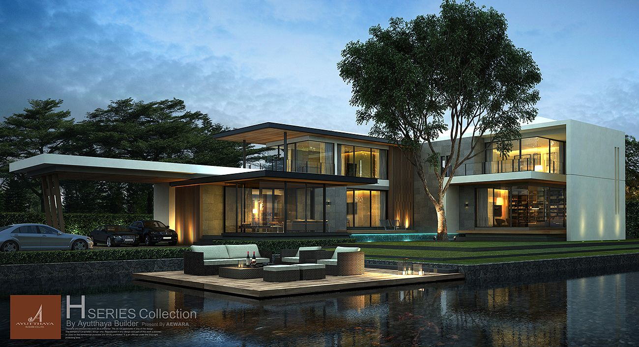 3d Perspective Aewara Exterior 78 | Y.Thailand designs | Pinterest ...