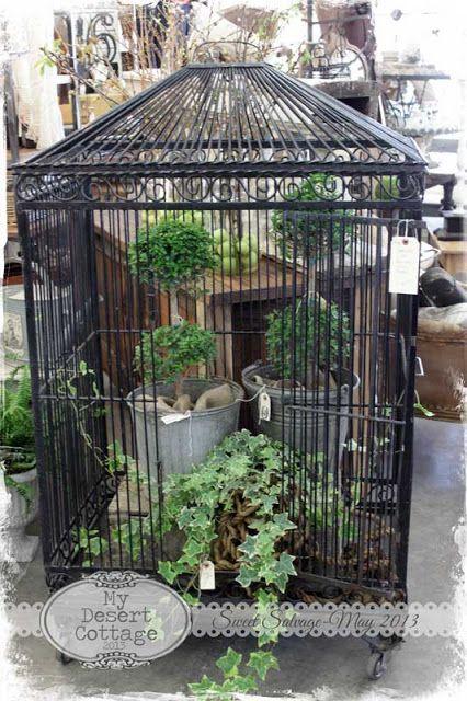 My Desert Cottage Sweet Salvage Sweet Retreats Bird Cage Decor Vintage Bird Cage Large Bird Cages