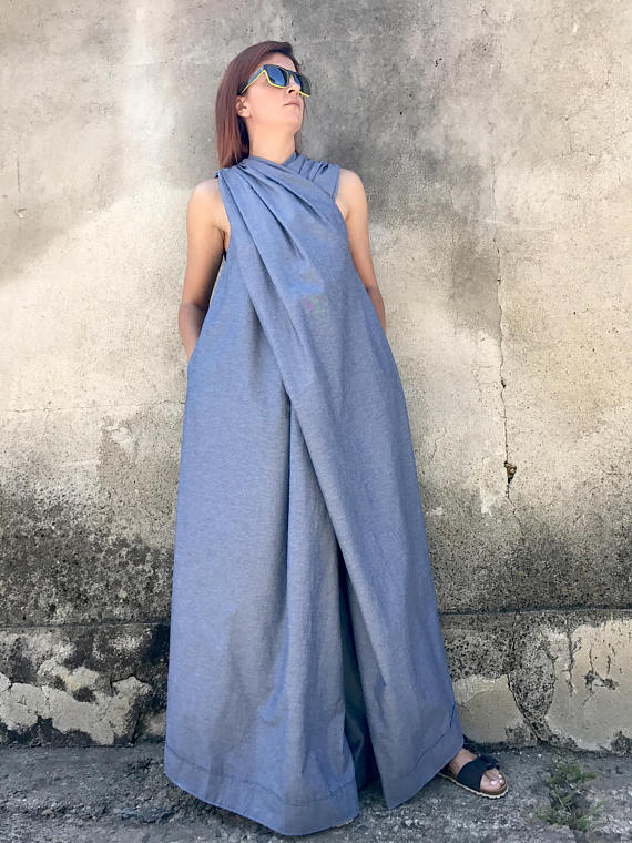 Photo of Japanese Clothing, Women Jumpsuit, Denim Jumpsuit, Women Kaftan Dress, Plus Size Jumpsuit, Maxi Dress, Extravagant Jumpsuit, Cotton Jumpsuit