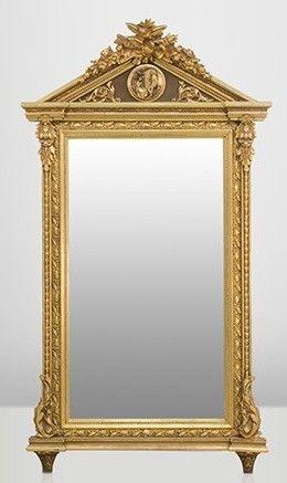 casa padrino barock wand spiegel gold h 204 cm b 113 cm edel prunkvoll 1