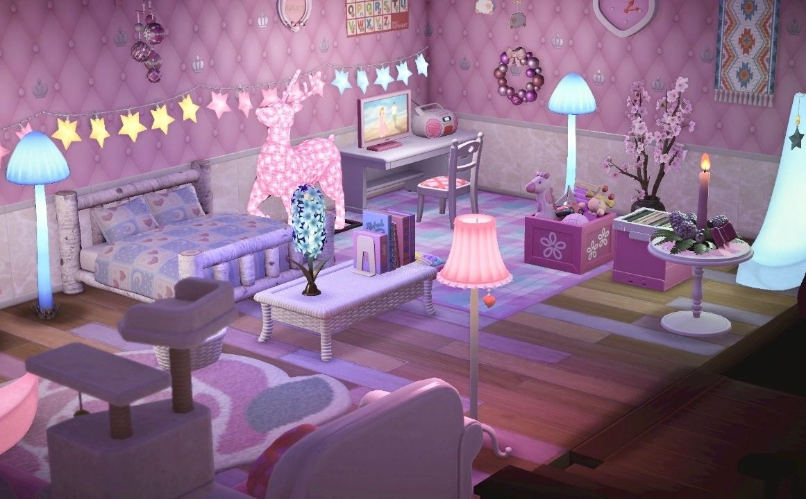 I Just Had To Make A Magical Illuminated Bedroom Animal Crossing Animal Crossing Game New Animal Crossing