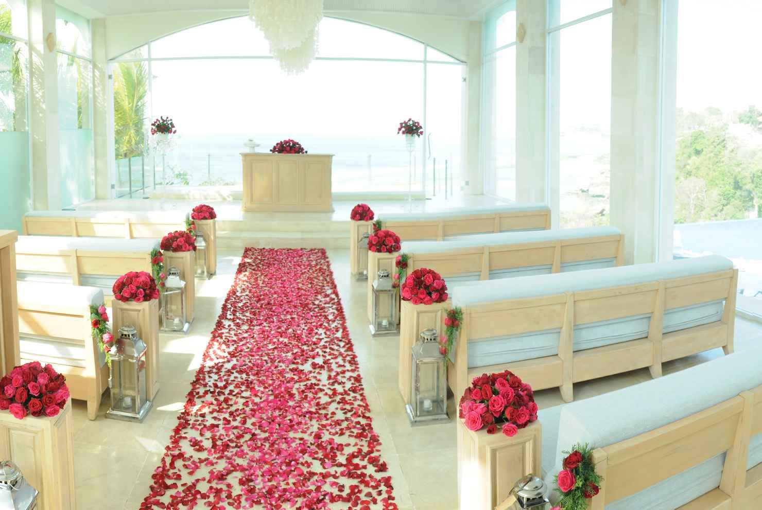 Wedding decorations to take abroad  Chapel wedding Denpasar Indonesia  wedding package from The