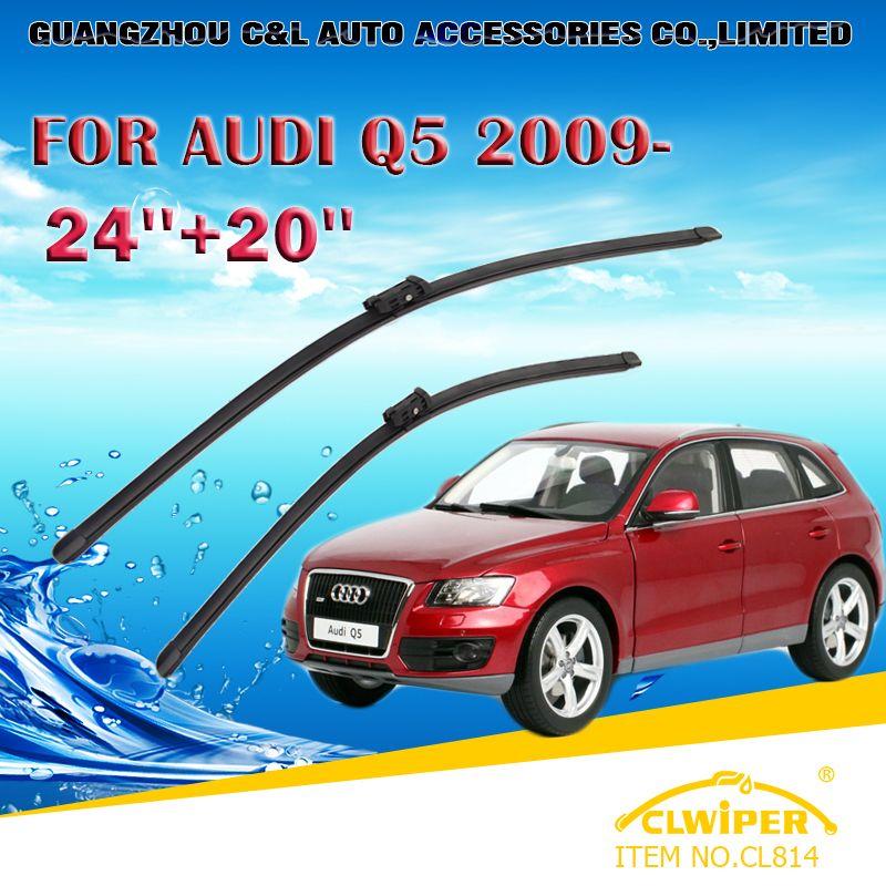 Wiper Blades For Audi Q5 2009 2010 2011 2012 2013 2014 15 Car Windscreen Wiper Windshield Wiper Blade 20 24 Cars Windscreen Wipers Audi Q5 Car Accessories