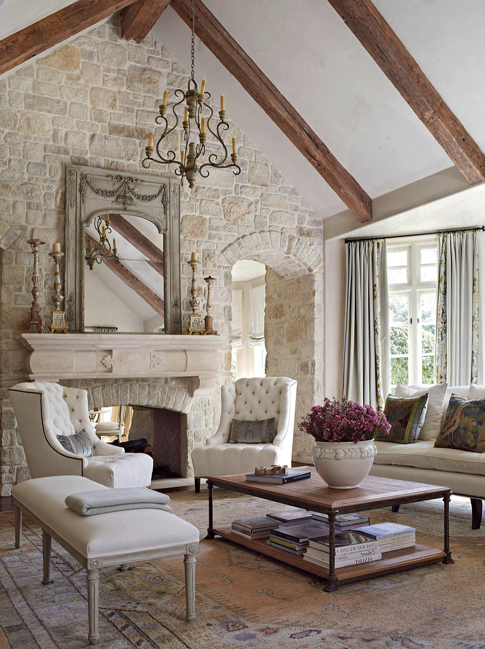 FRENCH COUNTRY STYLE living room, French country style ...