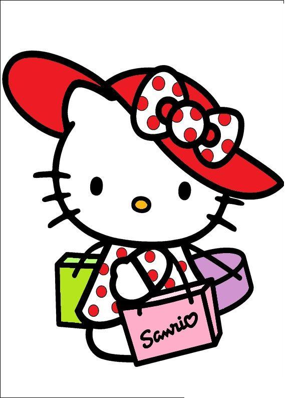 Hello Kitty Goes Shopping Hello Kitty Colouring Pages Hello Kitty Printables Hello Kitty Coloring