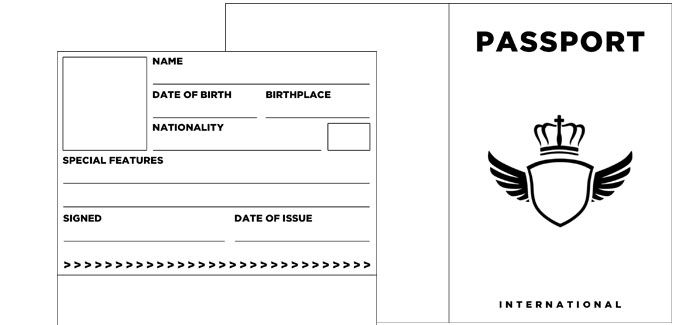 blank passport templates   fake realia  with images