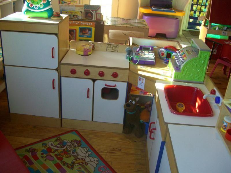 Preschool learning centers training wheels preschool for Daycare kitchen ideas