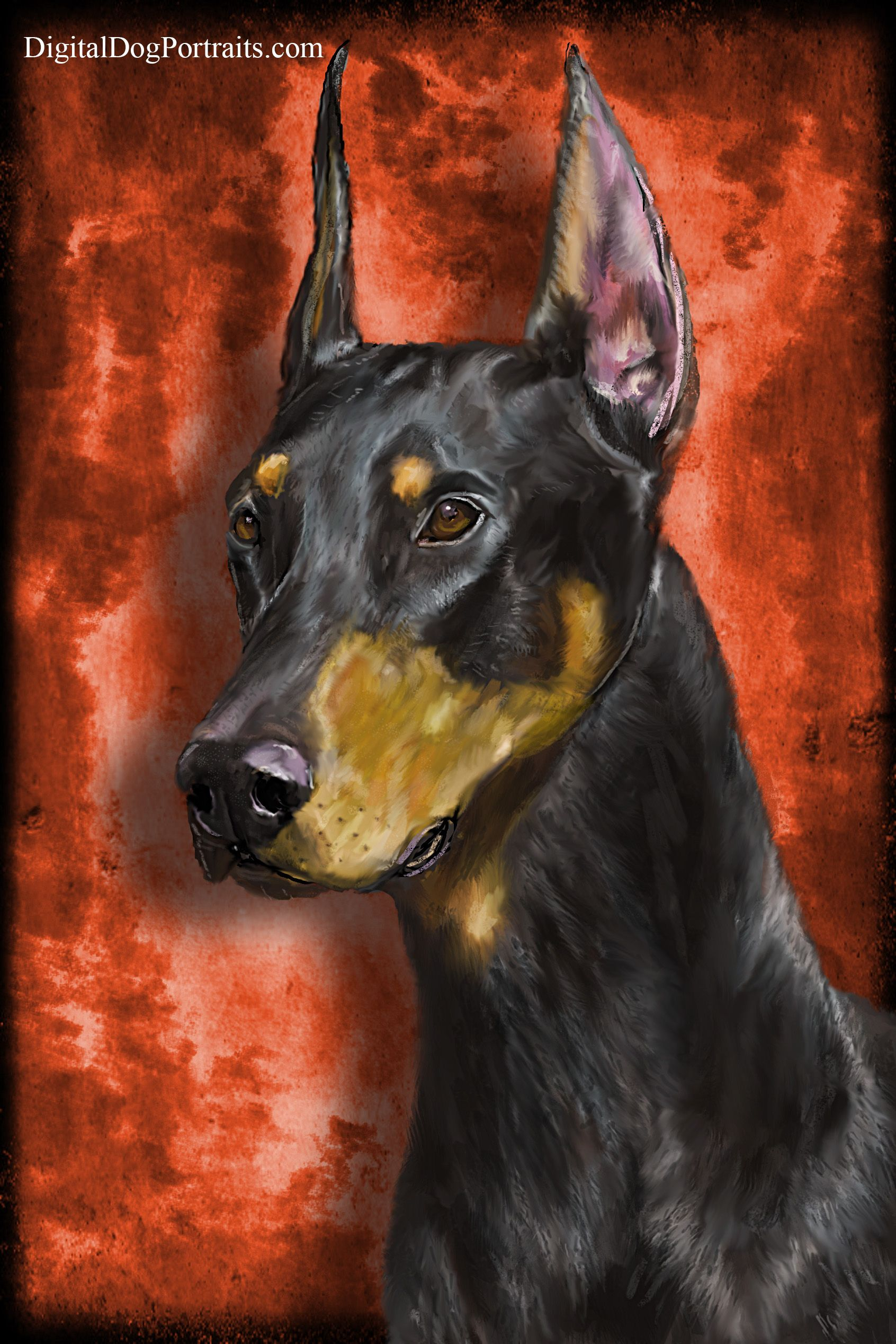 Custom Pet Portrait of Dave ) Order your own pet art at