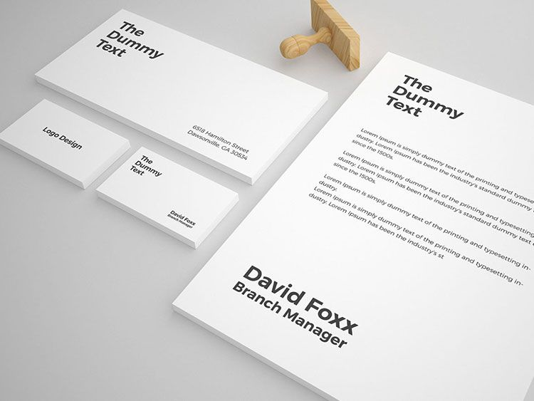 Free Stationery Mockup Template  Mockups Psd Templates For