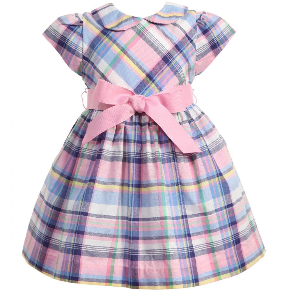 Baby girls very pretty short sleeved dress by Ralph Lauren. Made ...
