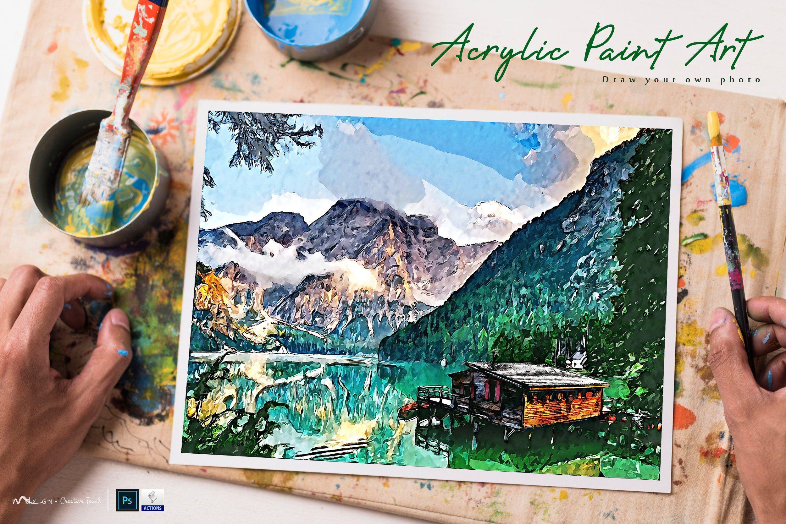 Watercolor Portrait Photo Template Portrait Photo