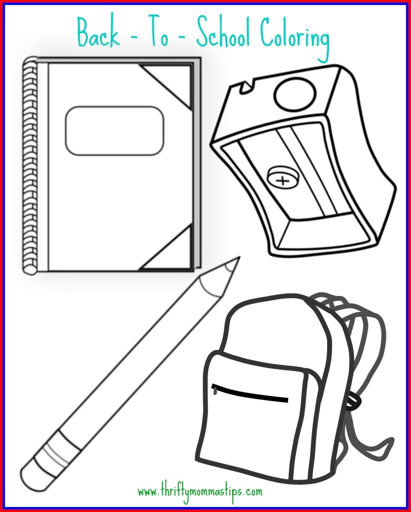 Back to School Coloring Page | School and Child