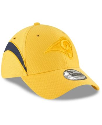 014fe04e052 New Era Los Angeles Rams Official Color Rush 39THIRTY Stretch Fitted Cap -  Gold M L