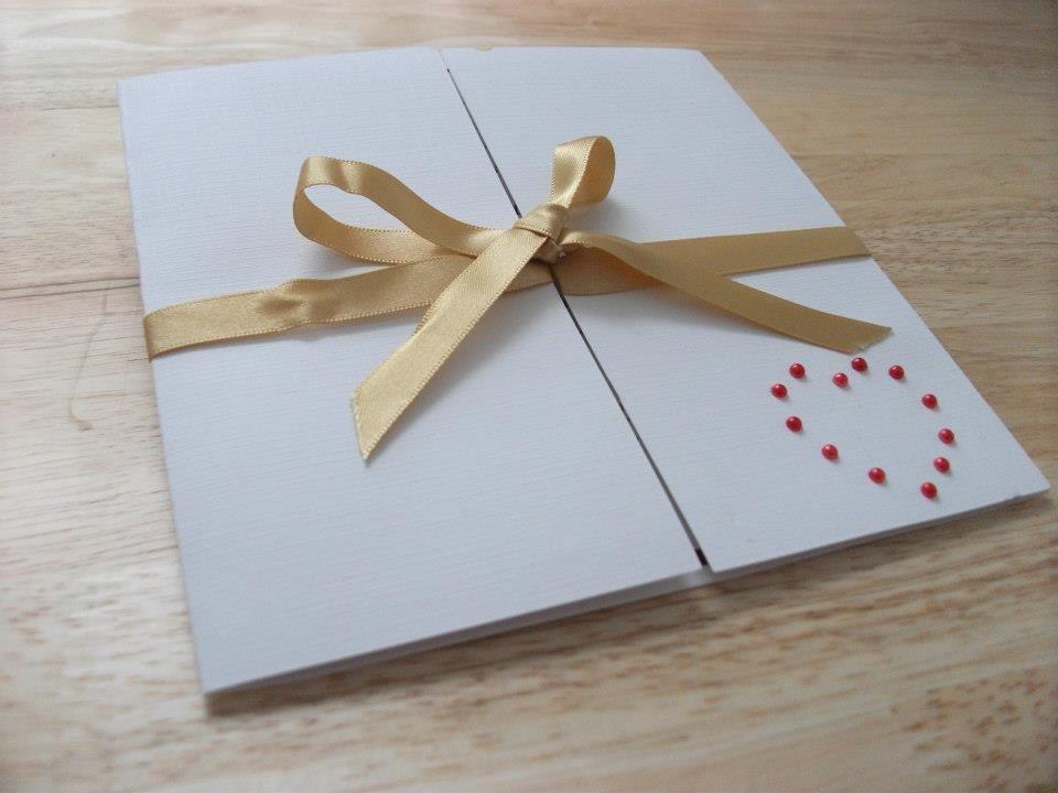 Diamante Heart. Gatefold style invites £1.75 for day invites  www.facebook.com/designedwithlove2012
