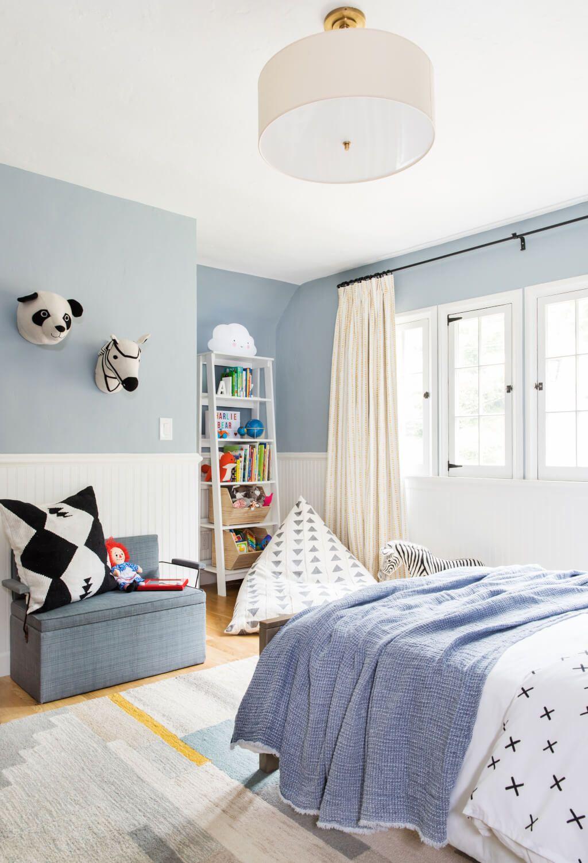 Charlie S Big Boy Room Reveal Shop The Look Emily Henderson Boys Room Blue Big Boy Bedrooms Boy Toddler Bedroom