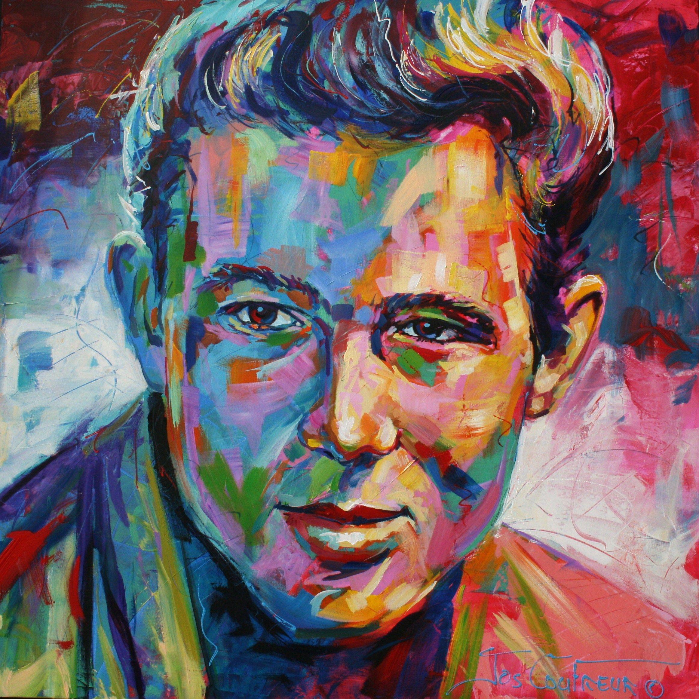 James Dean, Acrylic, 48X48