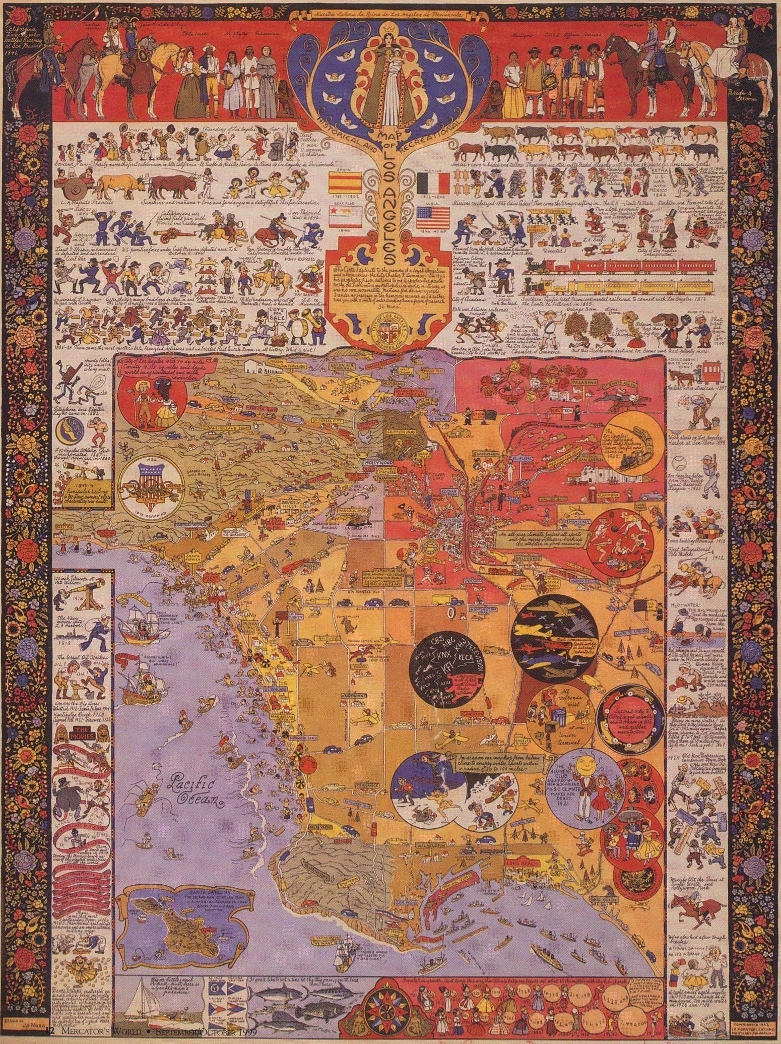 Jo Mora Poster Of Los Angeles Maps Pinterest Columns We And - Jo mora los angeles map