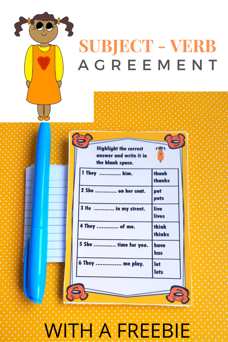 hight resolution of Subject - Verb Agreement Worksheets   Subject and verb