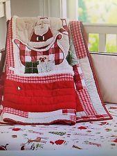 Pottery barn kids Christmas Quilt, Small Sham & crib sheet Santa ... : kids christmas quilts - Adamdwight.com