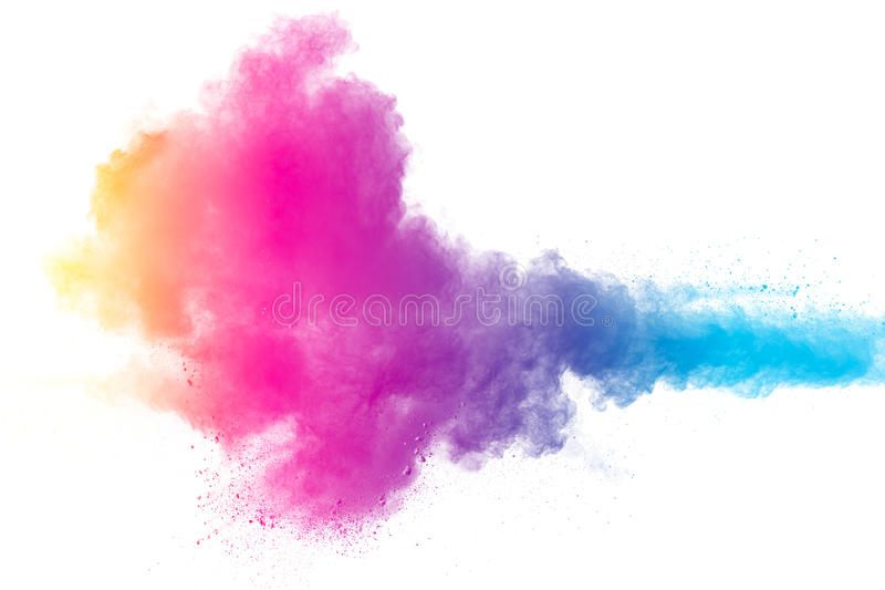 Color Powder Explosion On White Background Abstract Color Powder Explosion On W Sponsored Explosion White Color Powder Color Powder Color Abstract