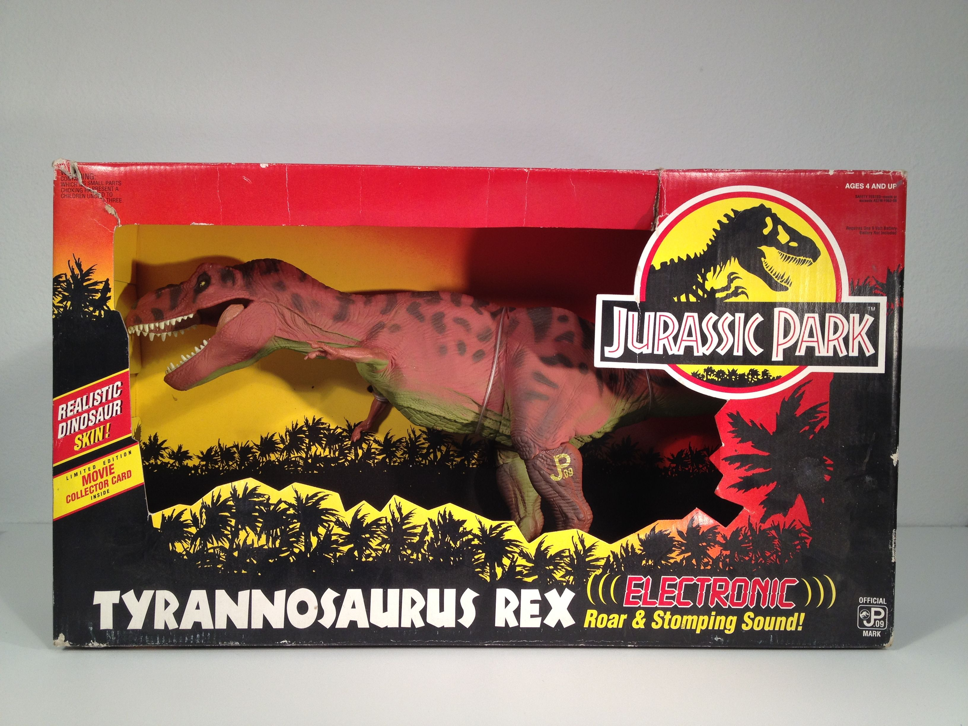 t rex toy from jurassic park this movie had amazing
