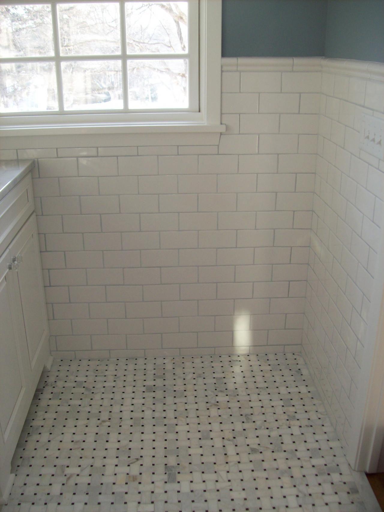 Image of installing tile wainscoting kids bathroom pinterest image of installing tile wainscoting shiifo