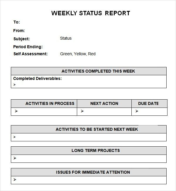 14 Weekly Report Templates Free Word Excel Pdf Report