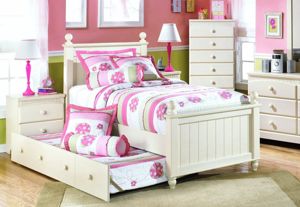Girls Room Trundle Bed Childrens Bedroom Furniture