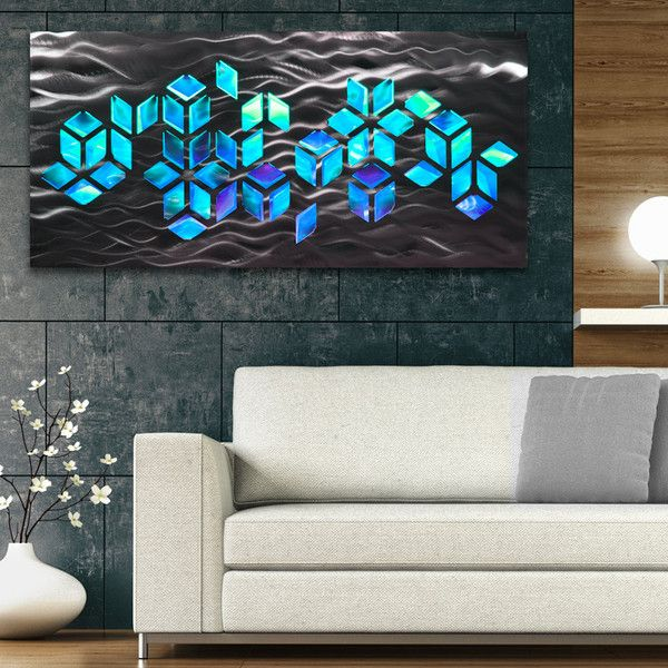 Impulse Large 46 X22 Abstract Geometric Design Metal Wall Art With Led Infused Color Changing Lighting Remote Control Abstract Metal Wall Art Wall Art Lighting Large Metal Wall Art
