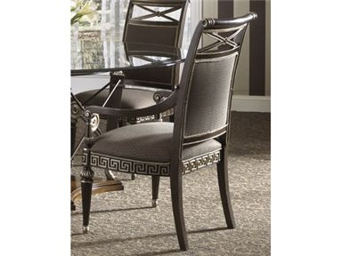 Fine Furniture Design Dining Room Upholstered Back Arm Chair