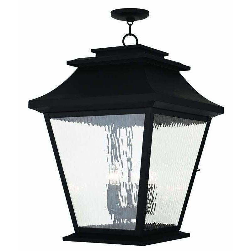 Enhance the lighting in your home by getting the Hathaway Black Outdoor Pendant Lantern By Livex Lighting 20247-04 now. Visit us today and check out our vast collection of amazing light fixtures!   #entryway #bedroom #hanginglights #diningroom #apartmentdecorating #decor #homedecor #kitchen #bathroom #livingroom