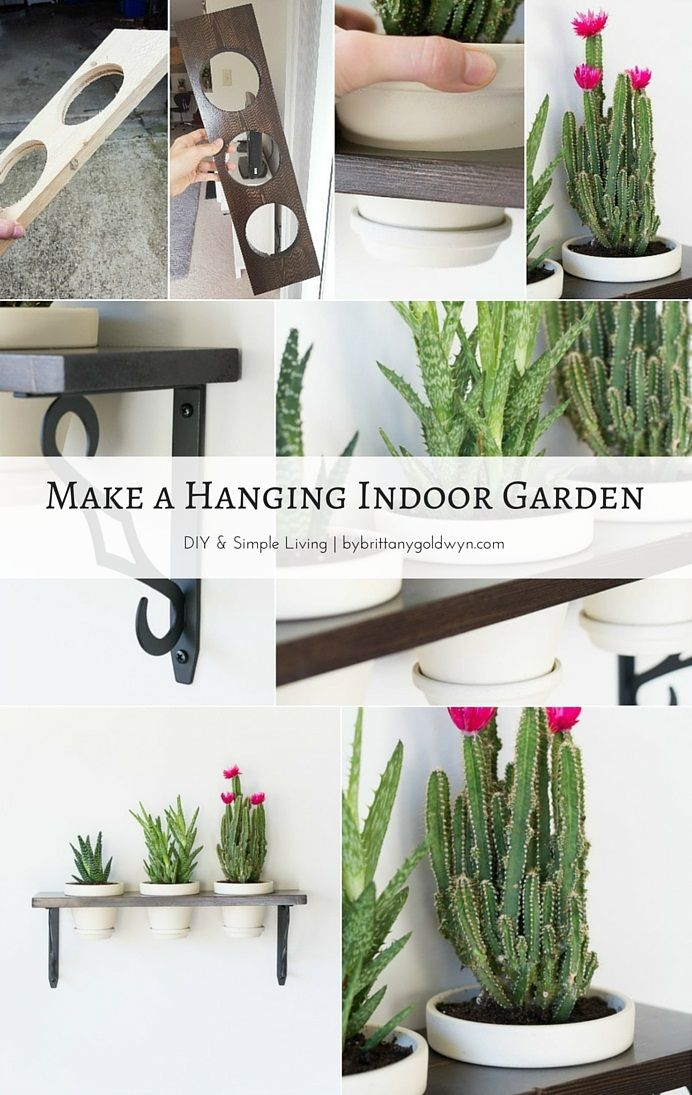 Learn How To Make This Pretty Little Hanging Indoor Garden And Turn Your  Plants Into Wall