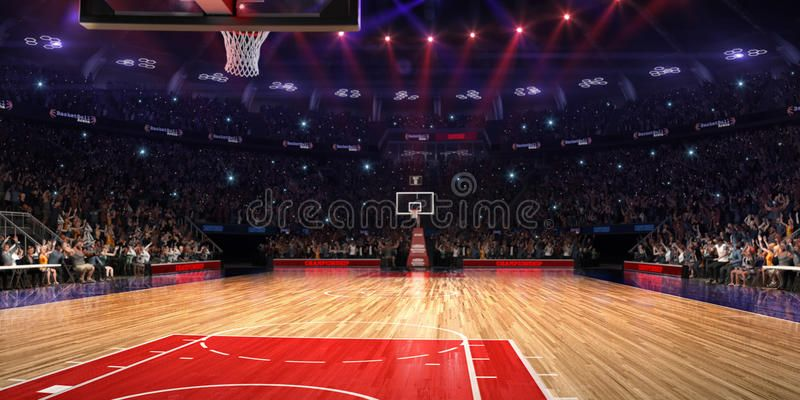 Basketball Court With People Fan Sport Arena Photoreal 3d Render Background B Ad Arena Sport Render Phot Sports Arena Basketball Court Basketball