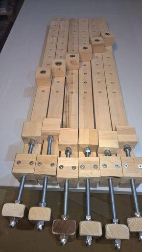 bau von leimknechten leimzwingen bauanleitung zum selber bauen werkstatt pinterest. Black Bedroom Furniture Sets. Home Design Ideas