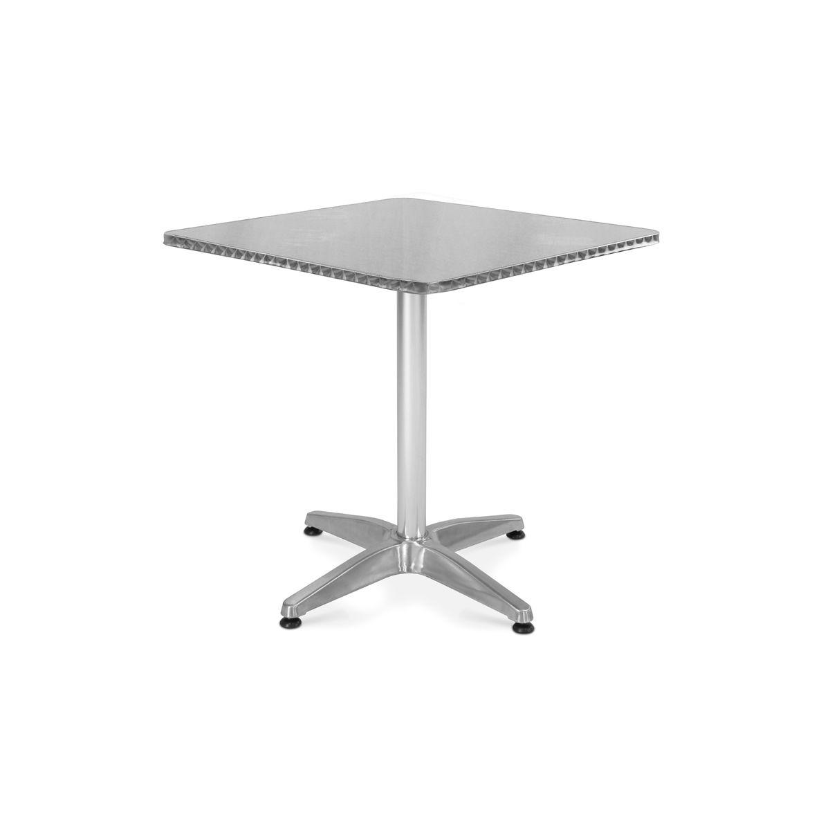 Table en carrée de bistrot aluminium 4 et fauteuils jardin 0XNOkwZ8nP