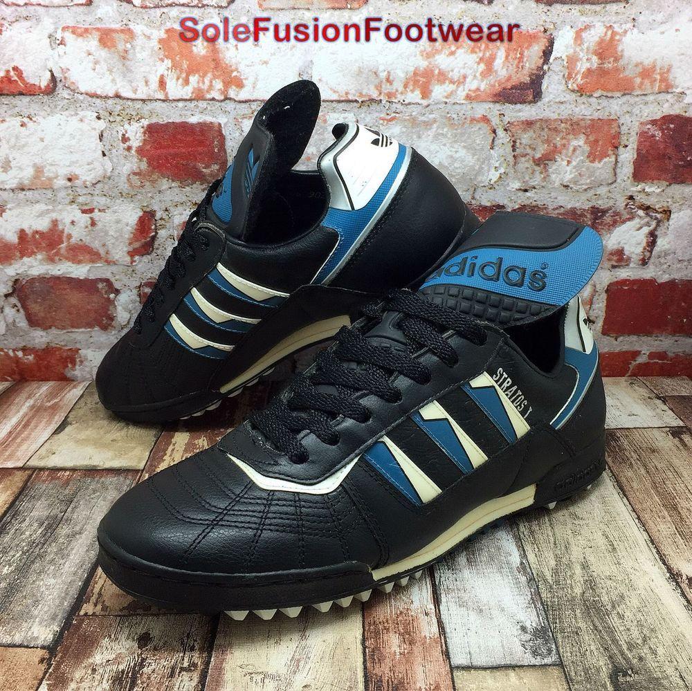 adidas Mens STRATOS Trainers Black size 6.5 VTG Turf Soccer