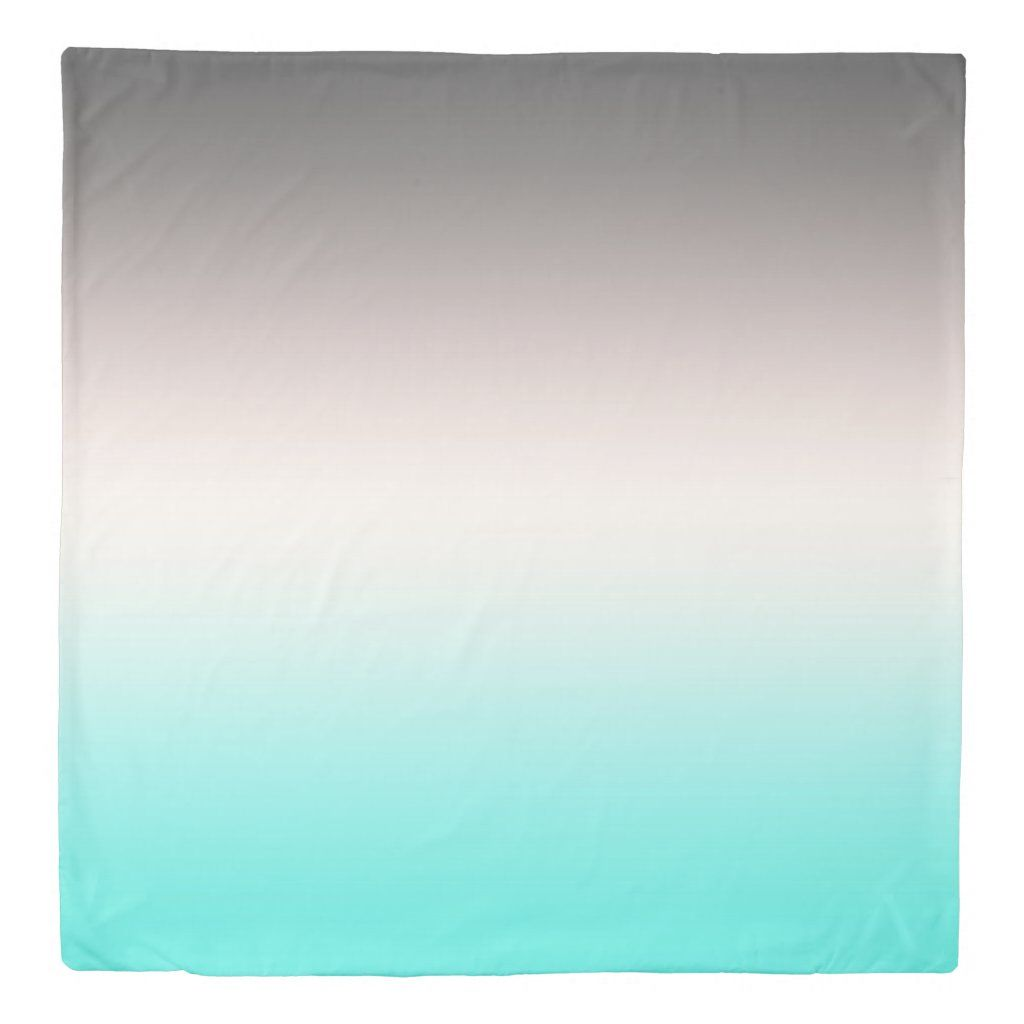 Turquoise grey Ombre Duvet Cover