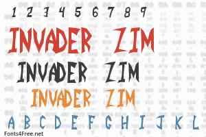 Invader Zim Font | Cartoon Fonts | Cartoon font, Invader zim