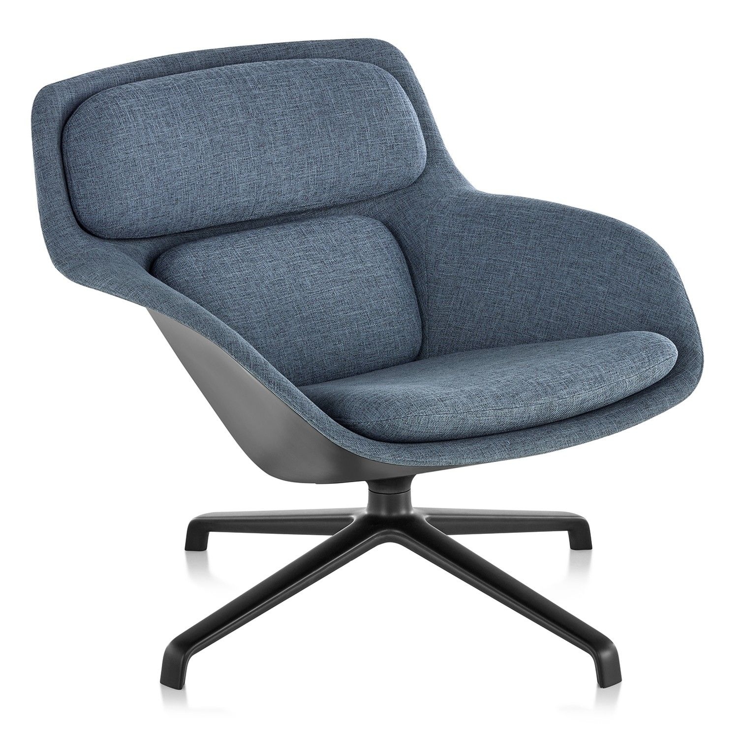 Herman millers striad low back lounge chair 4 star base offers a fresh and modern design to any homes arrangement